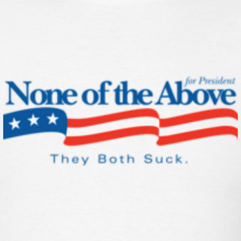 "Voters should be given the choice ""None of the above"""